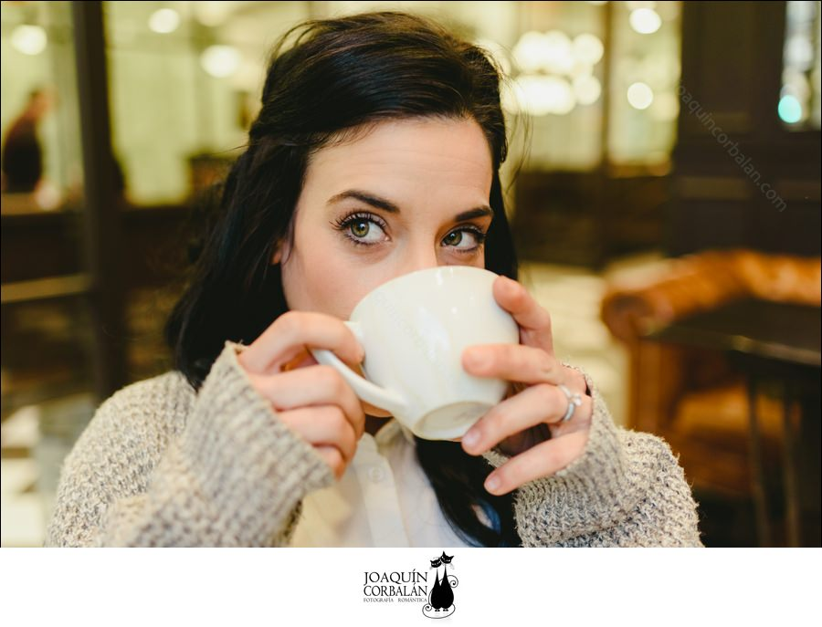 Pretty Brunette Woman Drinking Coffee In Vienna, European City, During A Trip.