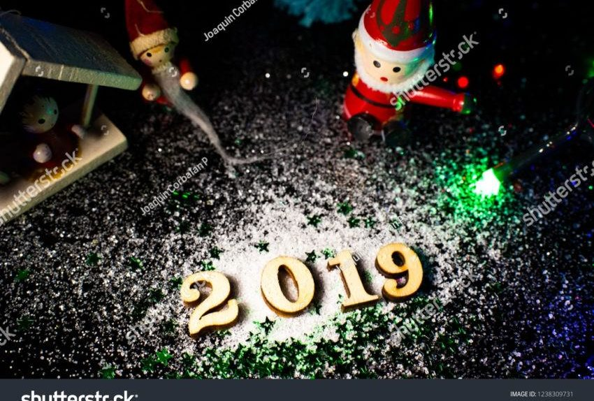 Stock Photo Welcome New Year With Christmas Decoration And Snow 1238309731