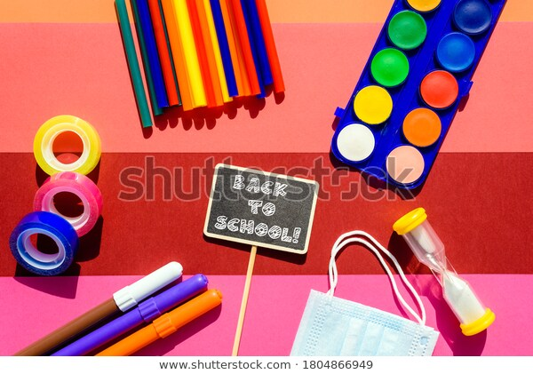 Colorful Stationery Isolated On Background 600w 1804866949