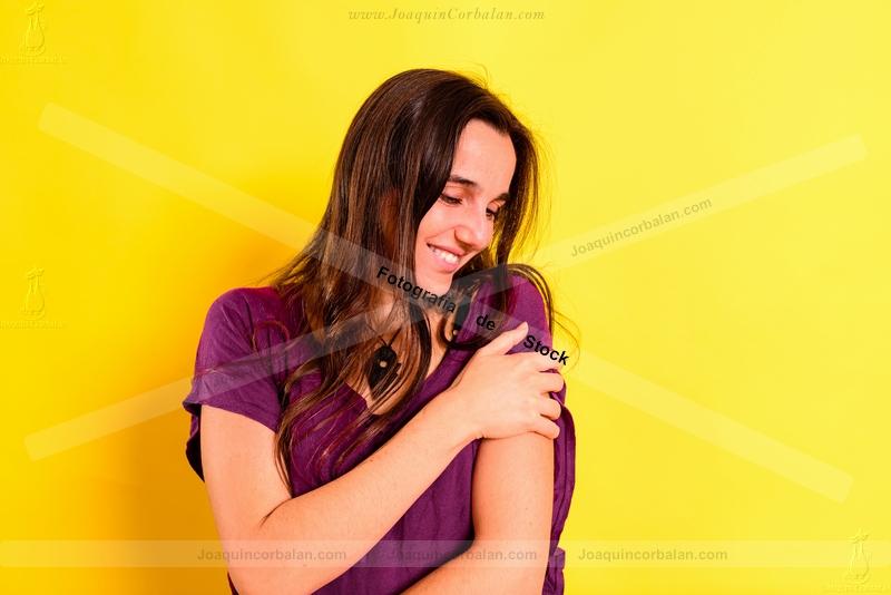 Woman Isolated Studio Young 235