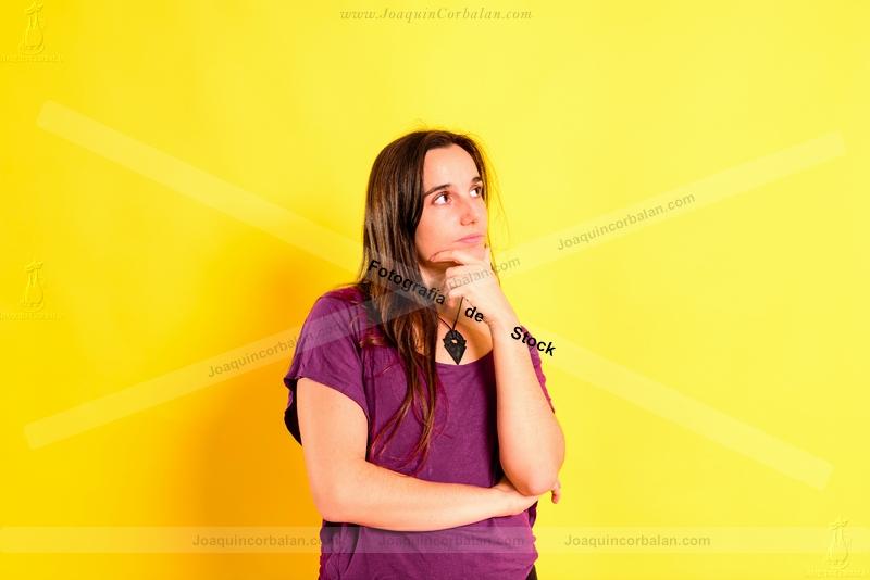 Woman Isolated Studio Young 244